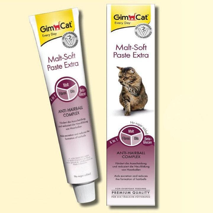 GimCat Malt-Soft Paste Extra паста для выведения шерсти и улучшения моторики желудка