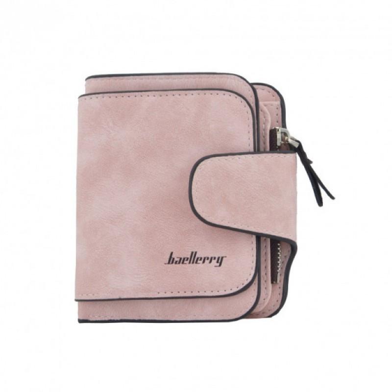 Женский кошелек Baellerry N2346 pink, Mini Клатч розовый