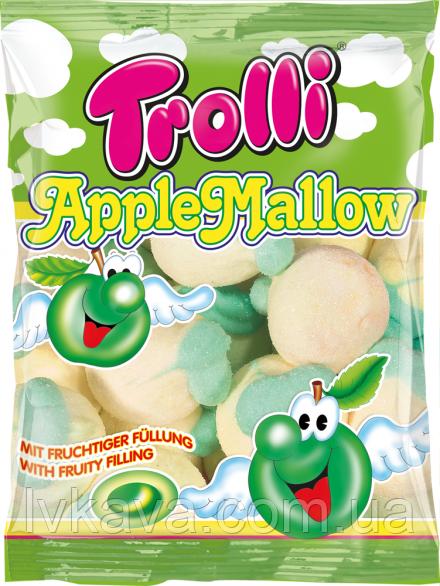 Конфеты маршмеллоу Trolli Apple Mallows  , 150 гр