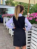 Школьный сарафан школьное платье для девочки школьная форма черная и темно-синего цвет размер:128,134,140,146, фото 5