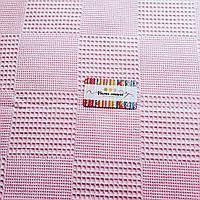 Вафельное полотно, розовое