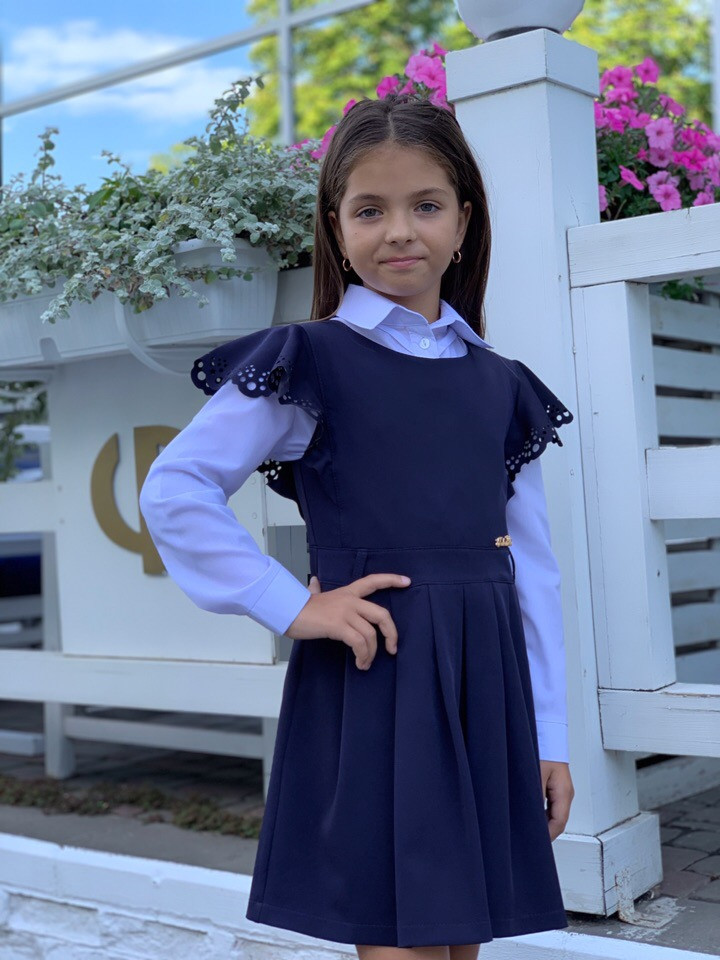 Школьный сарафан школьное платье для девочки школьная форма размер:128,134,140,146
