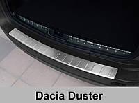 Накладка на задний бампер из нержавейки Dacia Duster