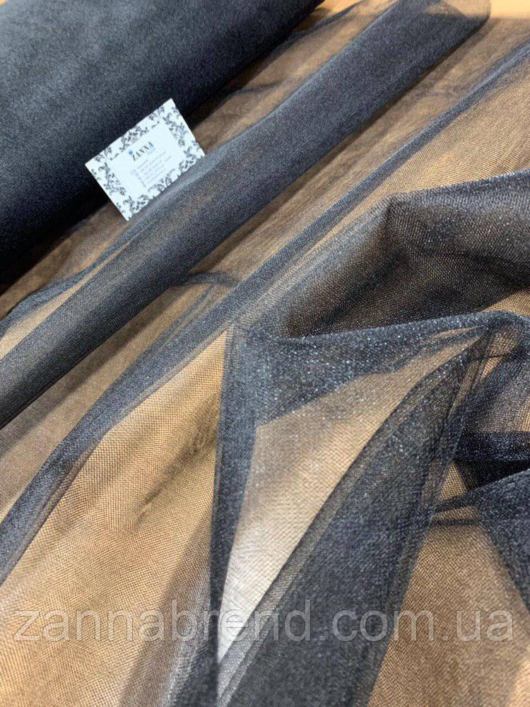 Ткань фатин чёрный