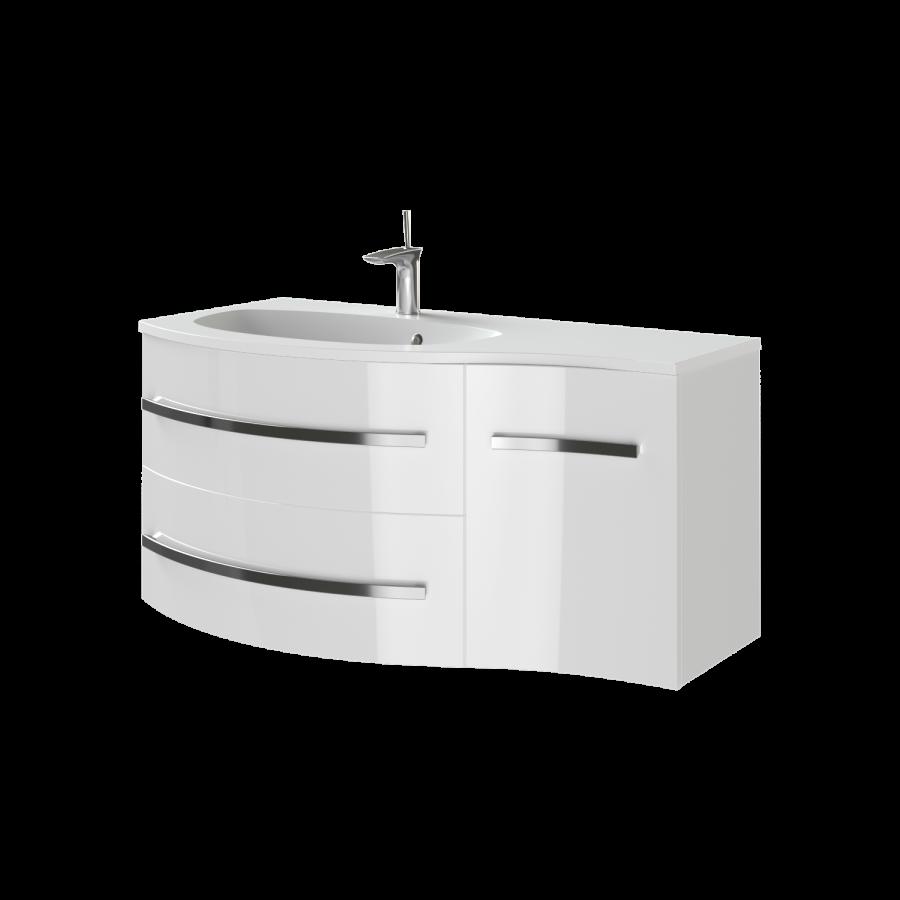 Тумба под раковину для ванной комнаты BOTTICELLI Vanessa Vndl-110-white с умывальником Vanessa 110
