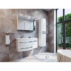 Тумба под раковину для ванной комнаты BOTTICELLI Vanessa Vndl-110-white с умывальником Vanessa 110, фото 3