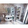 Тумба под раковину для ванной комнаты BOTTICELLI Vanessa Vndl-110-white с умывальником Vanessa 110, фото 2