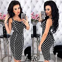 Женское летнее платье синее малиновое черное С-М Л-ХЛ