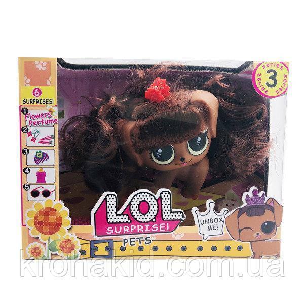 Игровой набор L.O.L Surprise Pets Лол питомец с волосами и аксессуарами 11686 - пахнет конфетами - аналог