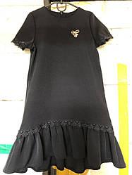 Школьное платье с кружевом, рр. 116-140. Украина