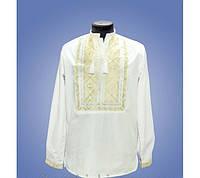 Белая мужская вышитая рубашка