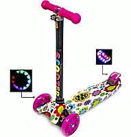 Самокат детский ScooTer MAXI Все колеса светятся Трубка руля алюминиевая Гарантия!!!