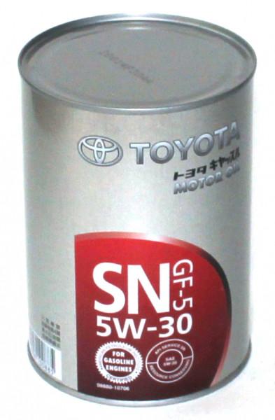 Моторное масло Toyota SN/GF-5 (Тойота) 5W-30 1л