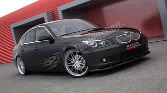 Губа диффузор переднего бампера обвес BMW E60 E61 рестайл