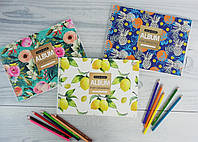 Альбом для рисования А4 30 листов На спирали Flower Pattern 130393 Yes Украина