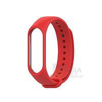 Ремешок браслет для Xiaomi Mi Band 3 / 4 силиконовый Original Красный