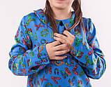 Блакитна туніка з принтом літери для дівчинки, фото 4