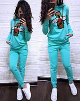 Спортивный костюм кофта бомпер Капюшон + штаны брюки Гуччи Муха, фото 1