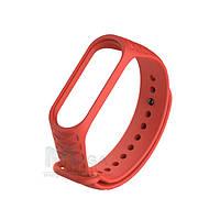Ремешок браслет для Xiaomi Mi Band 3 / 4 силиконовый Rhomb Красный