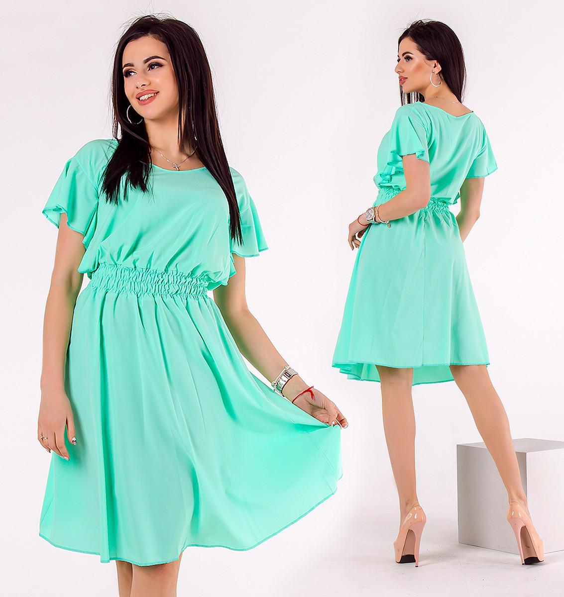 """Стильне жіноче літнє плаття """"Софт Кльош Крильця"""" в кольорах (DG-ат1129)"""