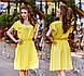 """Стильне жіноче літнє плаття """"Софт Кльош Крильця"""" в кольорах (DG-ат1129), фото 5"""