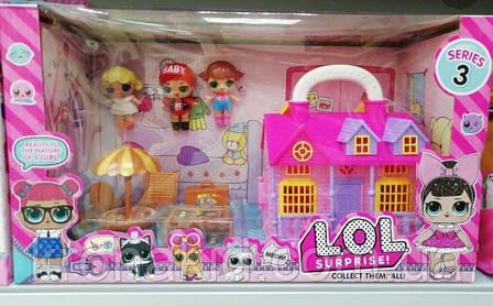 Домик Лол с мебелью для кукол Лол / LOL / Лол дом / Дом для кукол Лол TM736B - аналог, фото 2