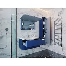Зеркальный шкаф для ванной комнаты BOTTICELLI Velluto VltMC-100-blue, фото 3