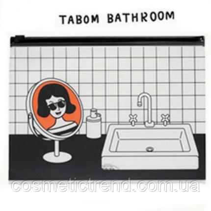 Косметичка женская силиконовая прозрачная Batom Bathroom 23*17,5*3 см, фото 2