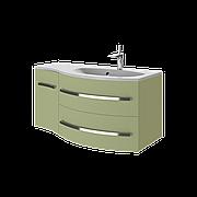 Тумба под раковину для ванной комнаты BOTTICELLI Vanessa Vndr-110-olive с умывальником Vanessa 110
