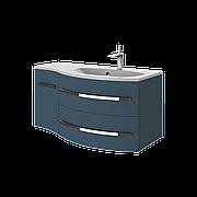 Тумба под раковину для ванной комнаты BOTTICELLI Vanessa Vndr-110-indigo с умывальником Vanessa 110