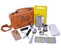Подарочный набор для мужчины с флягой 15 предметов, ЭЛИТНАЯ СЕРИЯ, фото 1
