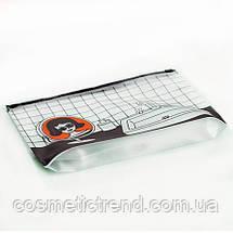 Косметичка женская силиконовая прозрачная Batom Bathroom 23*17,5*3 см, фото 3