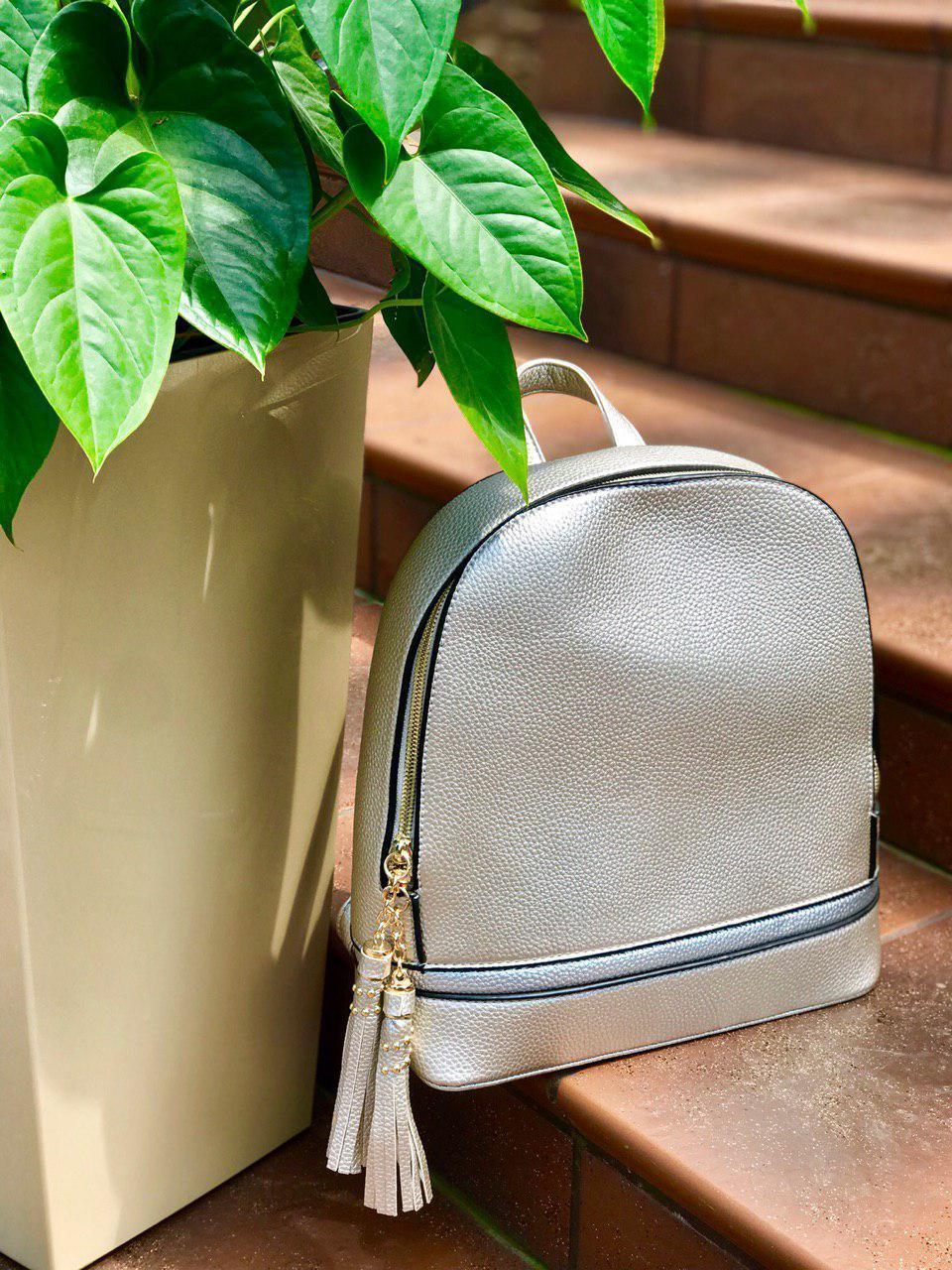 Женский серебряный рюкзак