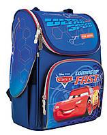 """Рюкзак шкільний каркасний 1 Вересня H-11 """"Cars"""" синий (556154), фото 1"""