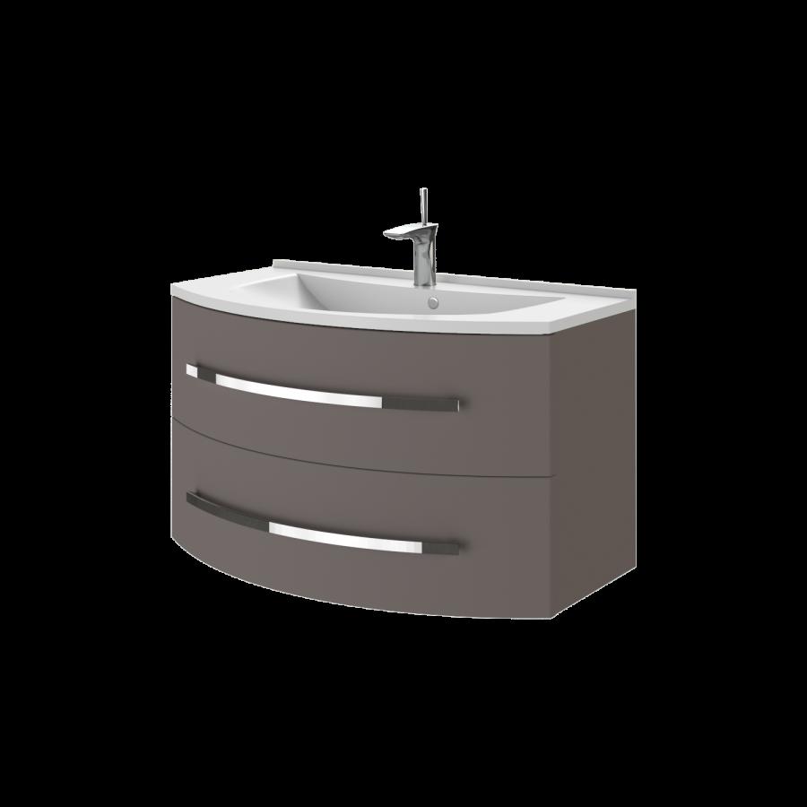 Тумба под раковину для ванной комнаты BOTTICELLI Vanessa Vn-90-dark melon с умывальником Vanessa 90