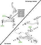 23-14 Сайлентблок нижнего переднего рычага задний Kia Mohave, Borrego; задний и передний Kia Sorento; 545803E002; 545002J002, фото 3