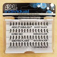 ARDELL Individuals Пучковые ресницы для наращивания MIX - 10мм + 12мм + 14мм