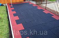 Резиновая плитка для сада 1000х1000 мм. Толщина 30 мм, фото 1