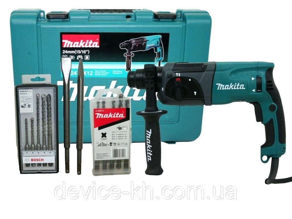 Перфоратор Makita HR 2470T 780В, c доп патроном 780 Вт