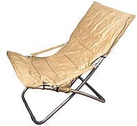 Кресло-шезлонг 100*61*95см (до 100кг) R28812 бежевый