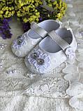 Детские пинетки для крещения или разных праздников белого цвета handmade, фото 4