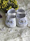 Детские пинетки для крещения или разных праздников белого цвета handmade, фото 6