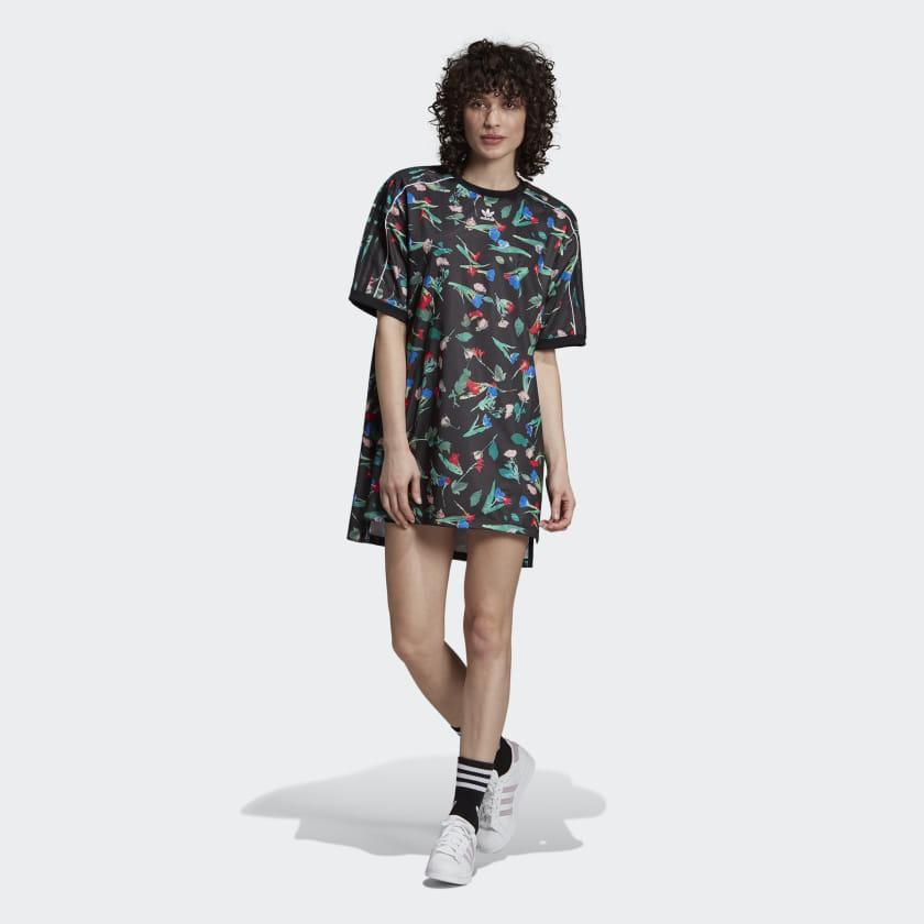 a8ed9e717134 Женское платье-футболка Adidas Floral EC1872 - 2019/2
