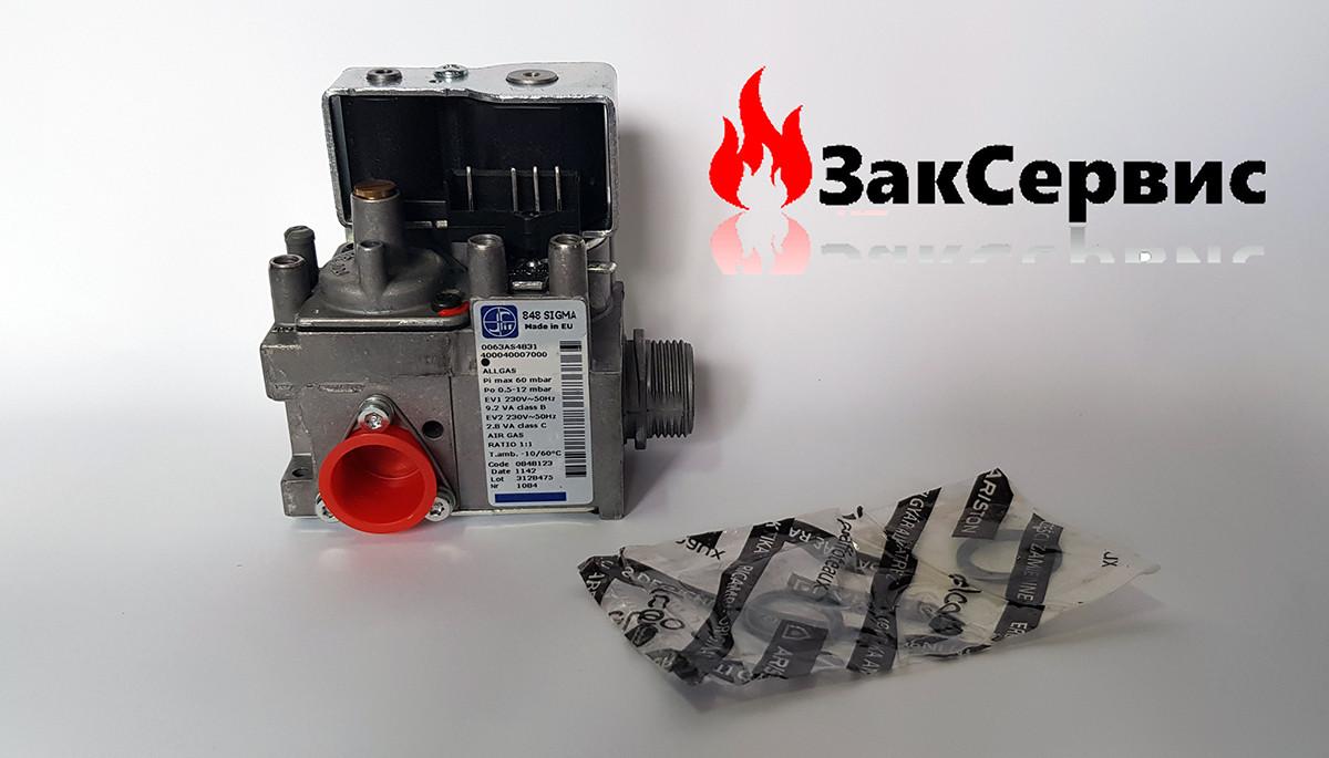 Газовый клапан на конденсационный котел Ariston Clas/Genus Premium 60000537, фото 1