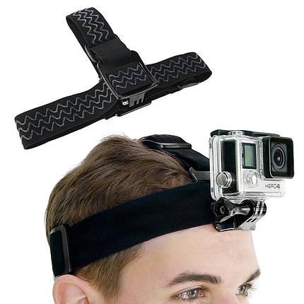 Крепление на голову для GoPro, SJCAM, Xiaomi и другие экшн камеры, фото 2