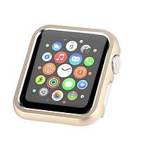 Защитный бампер для смарт часов Apple Watch 44 мм. Gold, фото 5