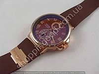 Мужские механические часы Ulysse Nardin Maxi Marine 7161 скелетон с автоподзаводом коричневые