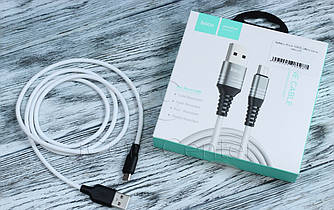 Белый USB-кабель micro Hoco U46 1m