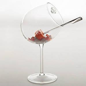 Креманка/бокал наклонный 350 мл. с ручкой, боросиликатное стекло Bourgogne, 100% Chef