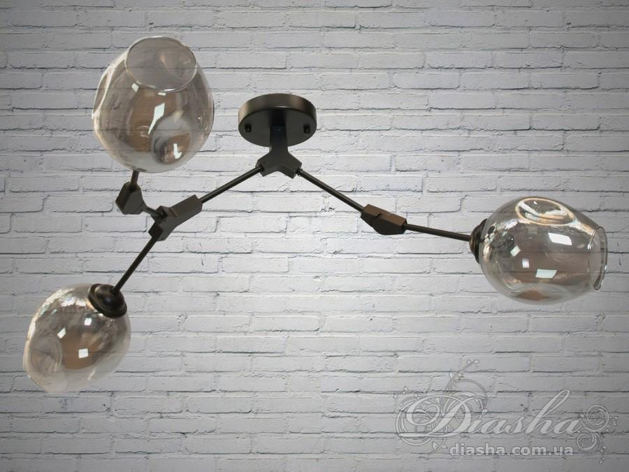 Люстра в стиле Лофт на 3 лампочки 60W Диаша&882-3BK